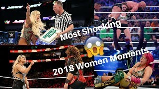 "WWE Top 10: Most Shocking 2018 Women Moments ""SO FAR"""