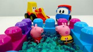 Leo der Lastwagen und Peppa Wutz auf Deutsch: wir bauen einen Pool  – Lustige Videos für Kinder