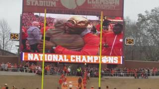 TigerNet.com - Clemson National title celebration - Clemson runs down the hill