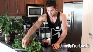 Juice Recipe Liver Cleanse  Beets - Lemon - Pair - Carrot - Ginger - Watercress - More