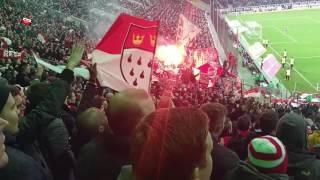 Gladbach - 1.FC Köln 1:2 Derby 19.11.2016 Stimmung Gästeblock Pyro Ultras Köln