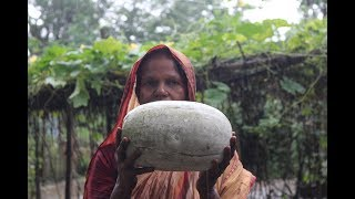 Village Food   Ash gourd and fish head pituli   Grandmother recipes-114