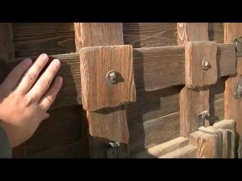 Как изготовить двери из дерева видео