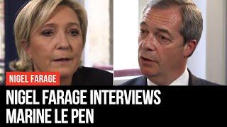 Nigel Farage Interviews Marine Le Pen