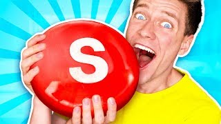 Sourest Giant Candy Challenge DIY! Worlds Biggest Skittles! Learn How To Prank Sour vs Edible Food