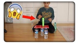 Water Bottle Flip Trick Shots 2 !!