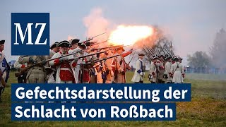 Gefechtsdarstellung der Schlacht in Roßbach