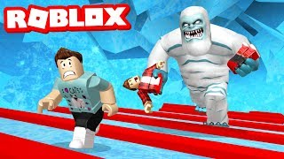 ESCAPE THE ICE CAVE OBBY IN ROBLOX