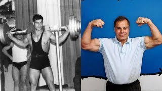 Franco Columbu transformation from 16 to 76 years old