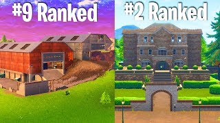 RANKING EVERY NEW FORTNITE LOCATION FROM WORST TO BEST (not thanos)