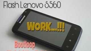 cara flash lenovo s560 work