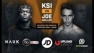 KSI vs Joe Weller – Copper Box Arena February 3rd 2018