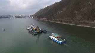 Autobergung aus der Donau
