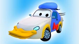 Die Lackierwerkstatt von Tom dem Abschleppwagen: Tyler ist Ente | Lastwagen Cartoons für Kinder