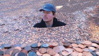I Put Millions Of Pennies In My Friends Backyard