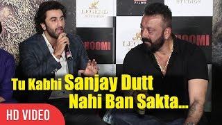Tu Kabhi Sanjay Dutt Nahi Ban Sakta | Ranbir Kapoor | Bhoomi Official Trailer Launch