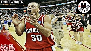 Stephen Curry Davidson Full Highlights vs Gonzaga 1st Rd (3-21-08) 40 Pts 5 Stls, 8 3PM, CRAZY!