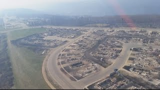 FORT MCMURRAY: Helicopter flyover shows scale of fire destruction