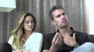 Divergent - Shailene Woodley & Theo James Talk