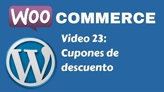 Tutorial tienda con WordPress y WooCommerce - Video 23: Cupones de descuento