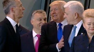 Did Trump shove prime minister?