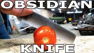 Worlds Sharpest Knife Obsidian vs 60,000 PSI Waterjet
