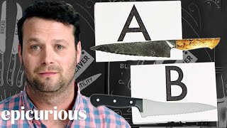 Knife Expert Guesses Cheap vs. Expensive Knives | Price Points | Epicurious