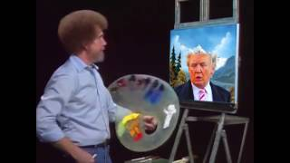 Bob Ross - Painting Trump Hair