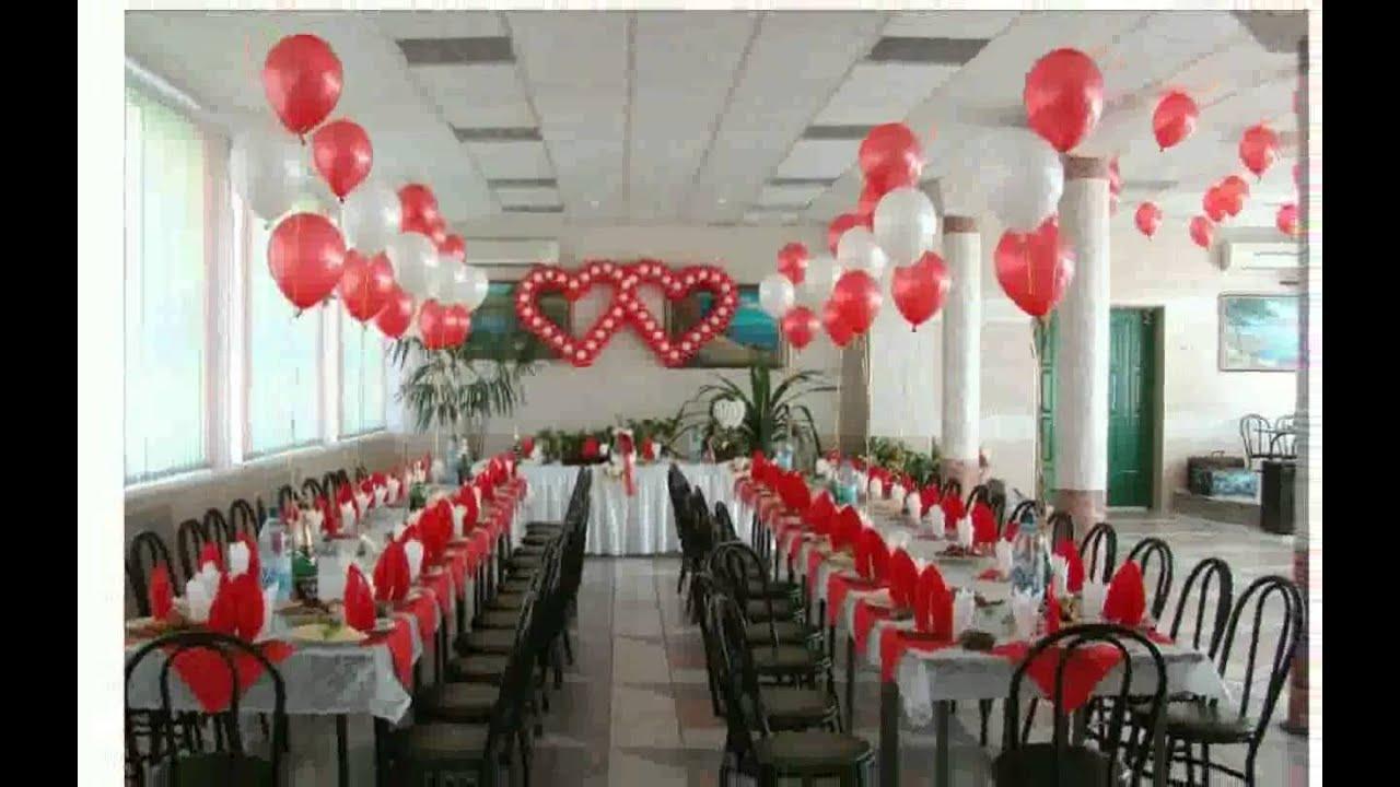 Как украсить своими руками зал на свадьбу