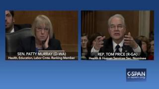 Sen. Patty Murray questions Rep. Tom Price on investments (C-SPAN)