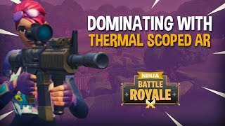 Dominating With New Thermal Scoped AR!! - Fortnite Battle Royale Gameplay - Ninja & Daequan