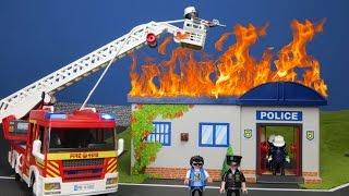 PLAYMOBIL Film deutsch: Feuerwehrmann Gefängnis KLO EXPLODIERT & FEUER | Kinderfilm Kinderserie