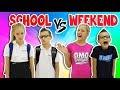 NIGHTTIME ROUTINE!!  SCHOOL DAY vs WEEKE...mp3