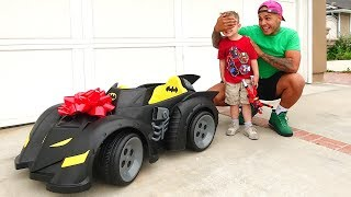 I BOUGHT HIS DREAM CAR!!  (BATMAN BATMOBILE)