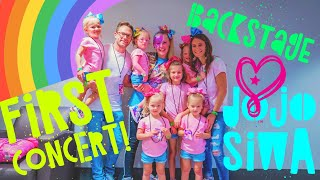 The Girls First Concert and We Go Back Stage with Jojo Siwa!