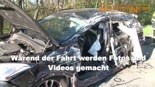 UNGLAUBLICHE GAFFER bei Unfall auf der A30 Lotte