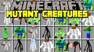 Minecraft MUTATED CREATURES MOD! | FIGHT MUTATED MOBS, CREEPERS, BOSSES, & MORE! | Modded Mini-Game