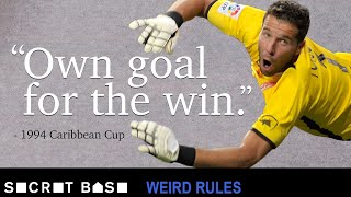 Barbados intentionally scored an own goal to help them win by two thanks to a weird golden goal rule