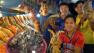 FRESHEST SEAFOOD FEAST! INSANE Seafood Meal at Dampa Market Manila Philippines
