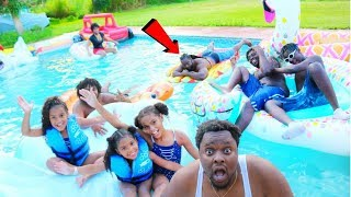 OUR  DAD ALMOST DROWNED FROM JUMPING OFF THE ROOF !!!