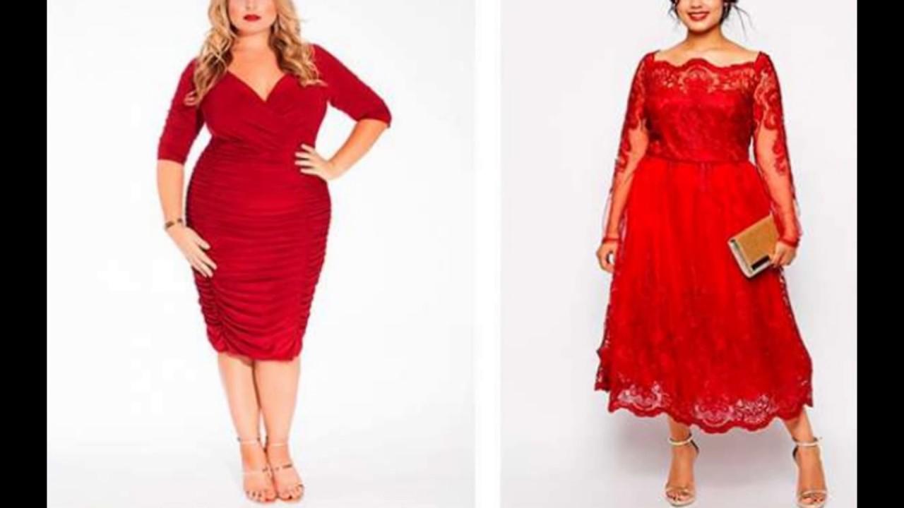 Красивые красные платья для полных женщин