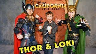 THOR & LOKI MEET & GREET in Disney California Adventure!