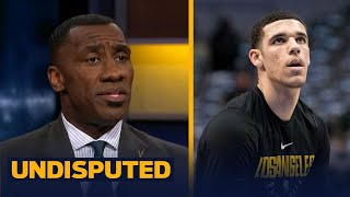 Shannon Sharpe grades the first half of Lonzo Ball