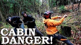 SAVING the FOREST CABIN (DANGER)!   Felling a Huge Tree!    Off-Grid Cabin, LOFT! Ep4