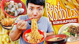MUST TRY Singapore NOODLES! TRADITIONAL Noodle Tour of Singapore