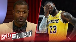 Stephen Jackson on LeBron's regular season debut for the Lakers   NBA   SPEAK FOR YOURSELF
