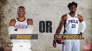 NBA's most interesting man: Russell Westbrook or Joel Embiid? | SportsCenter | ESPN
