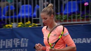 2017 Prague Open Semifinals | Kristyna Pliskova vs Jelena Ostapenko | WTA Highlights
