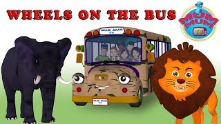 The Wheels On The Bus Part 2  Song - Learn Wild Animal