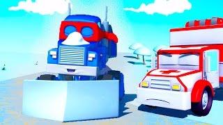 Super Truck 🚚 et le Chasse Neige ⛄ à Car City | Dessin animé pour les enfants